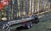 wózek leśny