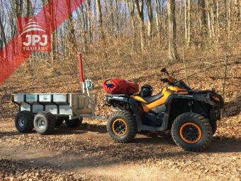Quad ATV Can Am i przyczepa ATV Profi Robotnik