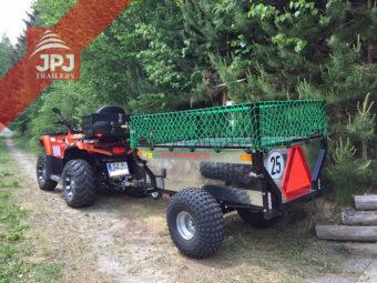 Quad roboczy i przyczepa ATV Ogrodnik zmodyfikowana przez właściciela