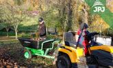 Przyczepa Mały Ogrodnik z traktorem ogrodowym